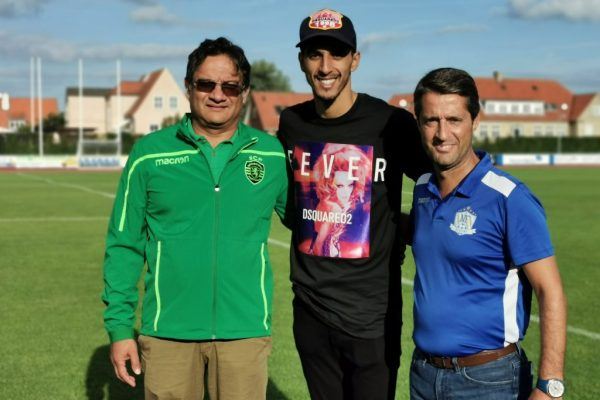 FC Copenhagen captain Zeca, Gonçalo Nunes and Sporting scout Akil Momade were in place to select 6 players to train with Sporting