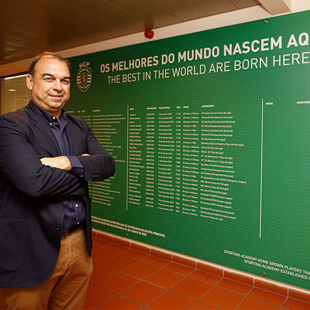 Paulo Gomes i Sporting hoppas att samarbetet kommer att vara ömsesidigt fördelaktigt för både NF Academy och Sporting.