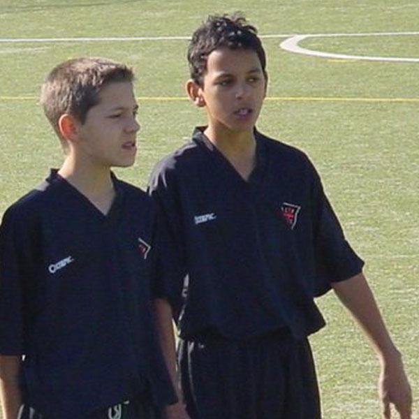 Zeca när han var 14 år i Casa Pia AC, hans klubb från ungdom till seniorlag.