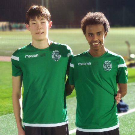 Magnus Gaunsbæk och Bashir Bashiir är två av de många spelare som redan haft chansen att träna på Sporting CPs akademi.